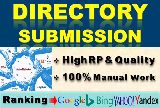 I will do 150 high Authority directory submission service manually