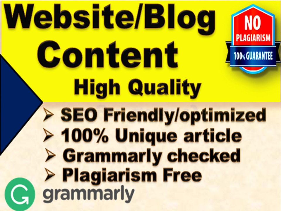I will write 1000 words SEO friendly article/Website Content or Blog Post on any topic