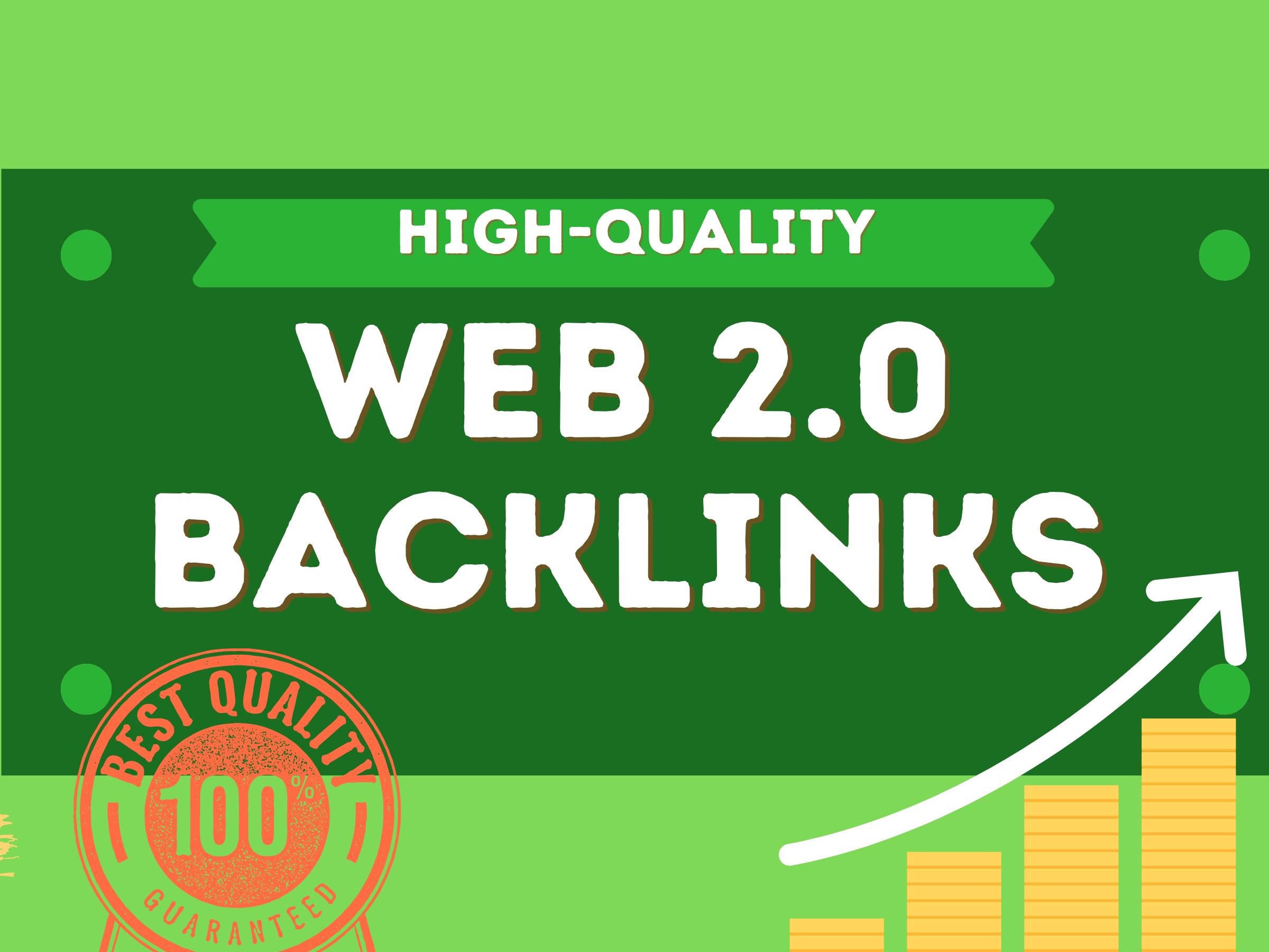 Provide 50 high quality High PR web 2 0 backlinks