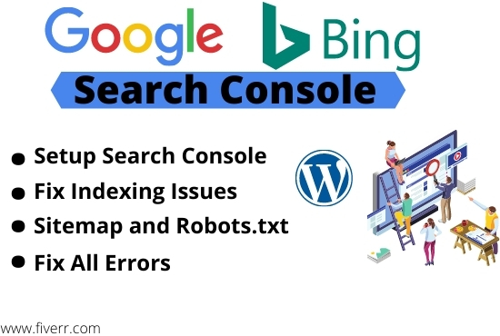 index your Website on Google search console webmaster tools or fix errors