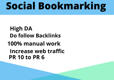 I will create manually 50 Social Bookmarking Backlinks