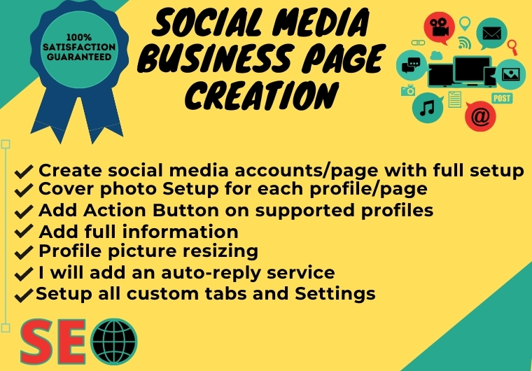 I will setup & optimize your Professional social media business page
