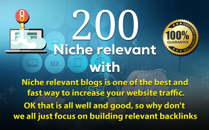 I will do 200 niche relevant backlinks blog comments service seo