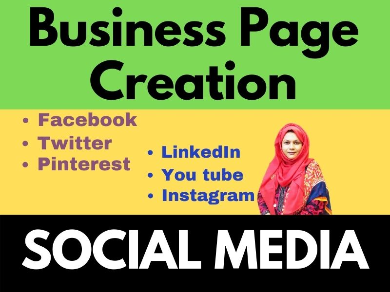 Social media Business page creator for high ranking SEO service of Your Business