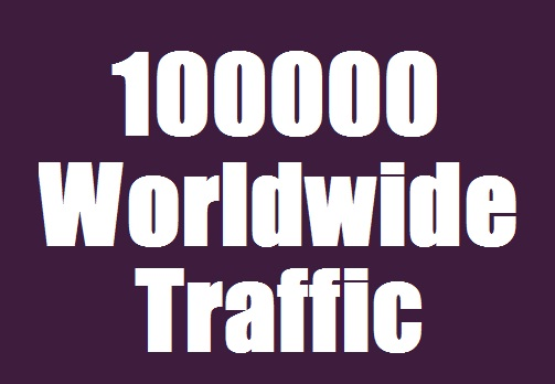 100000 Traffic from Search engine & Social Media