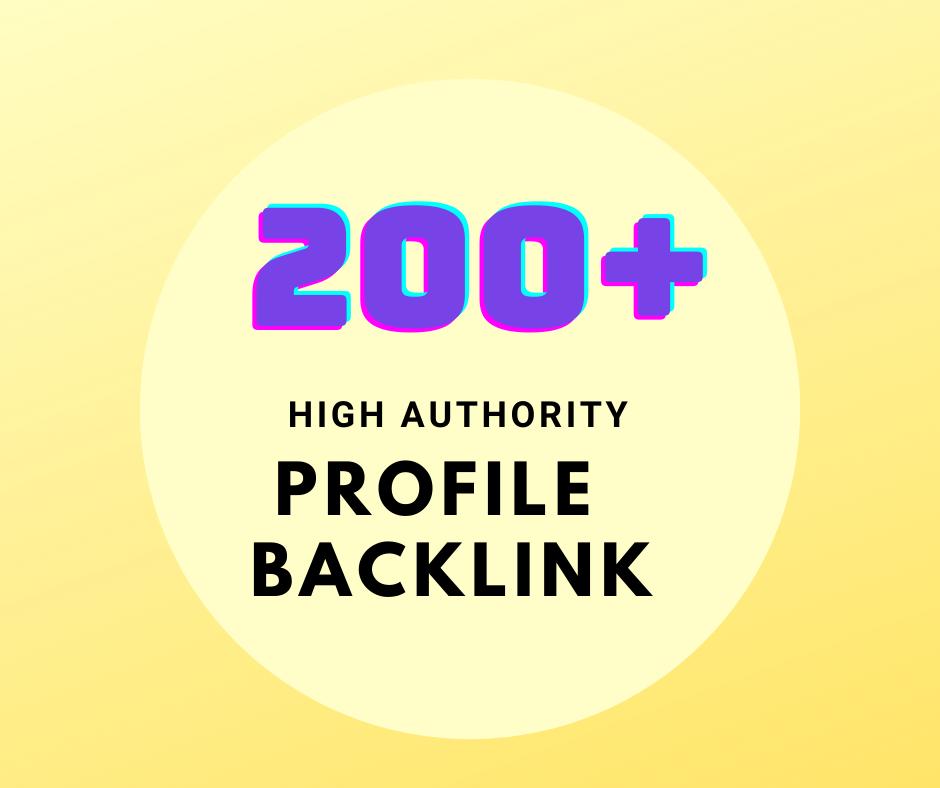 I will do 150 manual dofollow profile backlinks with high DA links