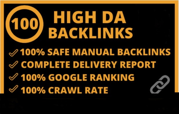 I will make 100 high authority high da quality seo dofollow backlinks