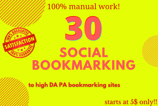 Social bookmarking on high DA/PA sites