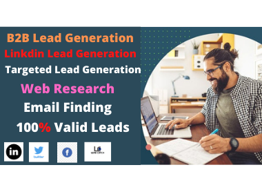 I will do 50 highly targeted b2b lead generation and research data