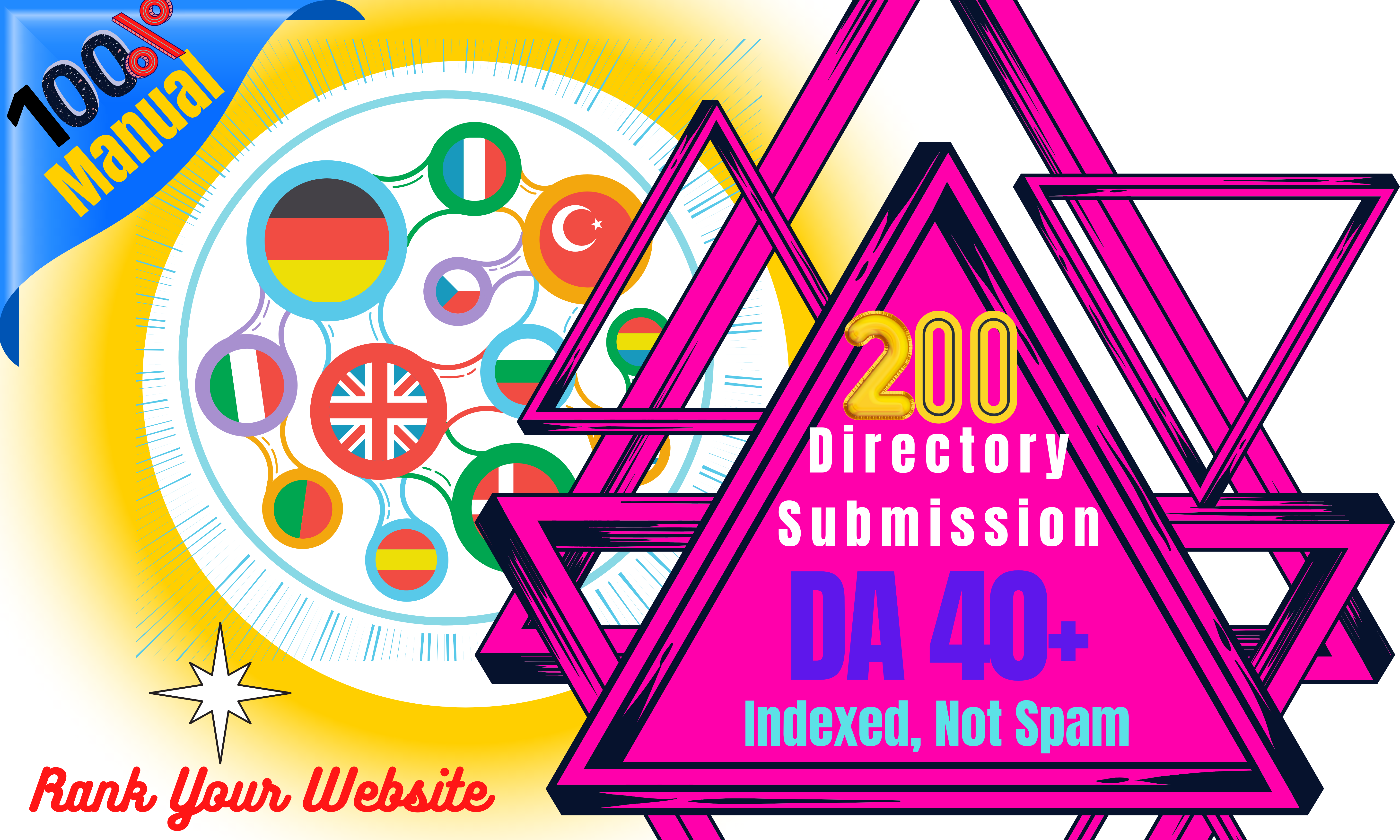 I will do 200 manual directory submission service high quality
