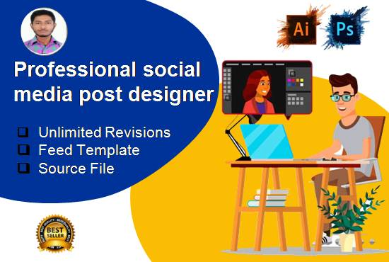 I will Provide Design Services for Social media