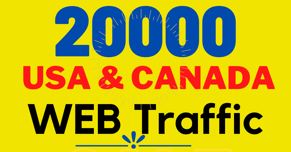 20000+ nonstop 10 days USA and CANADA web traffic to your website