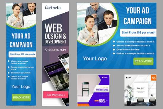 design beautiful digital ads for screen