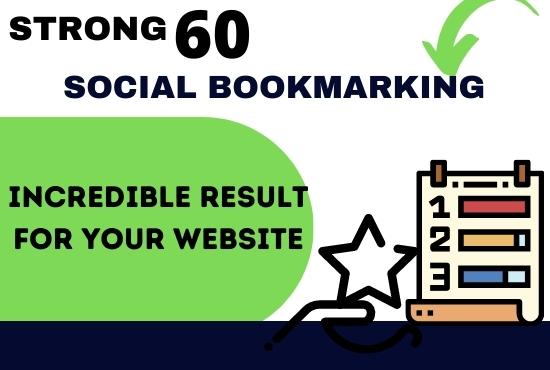 60 High QUALITY PR Social Bookmarking Backlinks For google rank