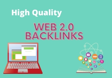 I will create 30 manual web 2.0 backlinks.
