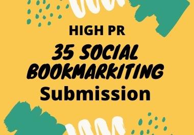 I will best 35 social bookmarking on high PR backlinks