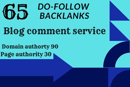 do 65 high domain authority unique domain dofollow backlinks