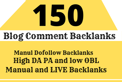 do 150 dofollow blog comments SEO service backlinks