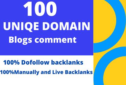 build 100 unique domains blog comments backlinks