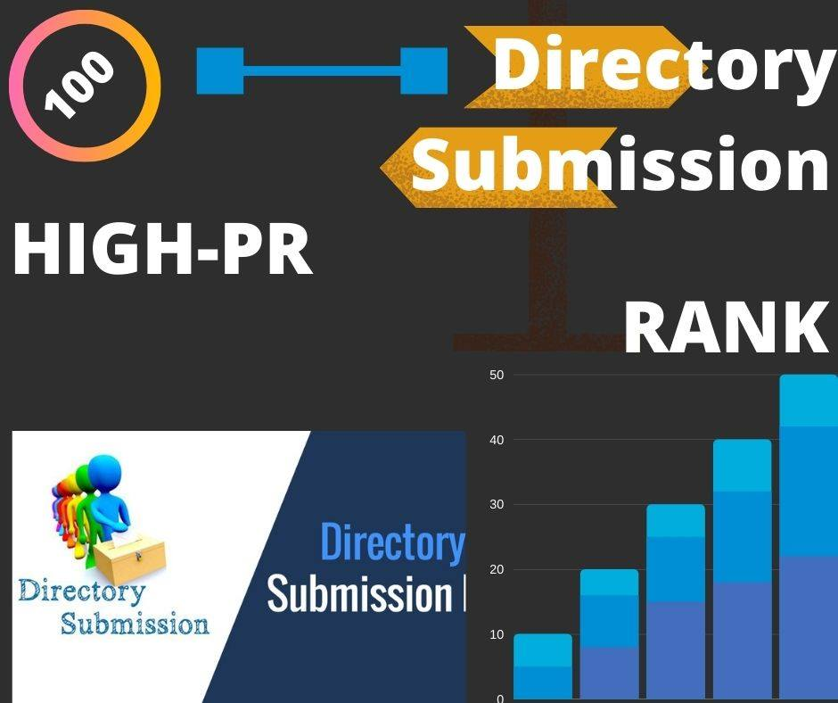 I will provide 100 directory submission backlinks manually