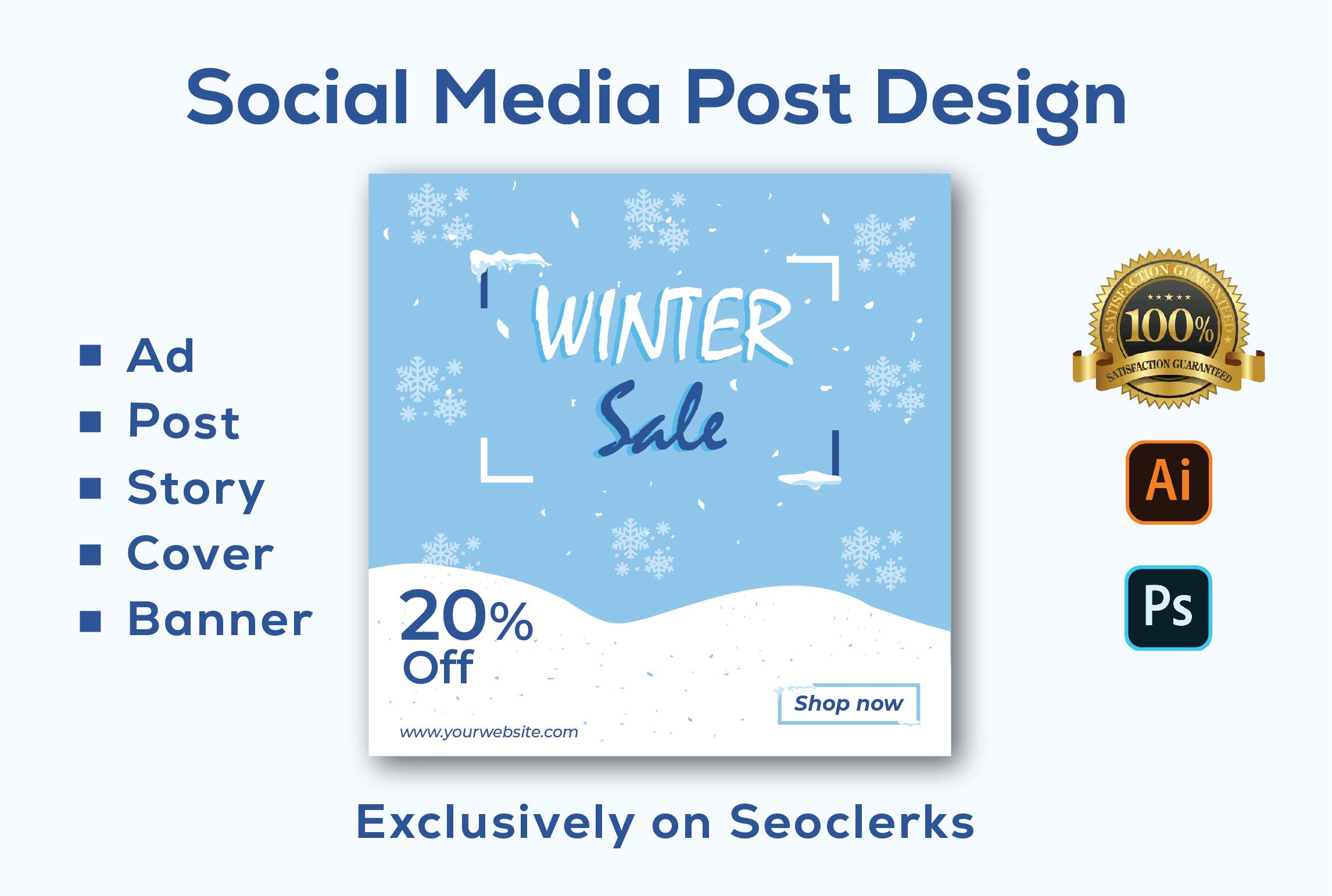 I will create unique and creative social media posts designs