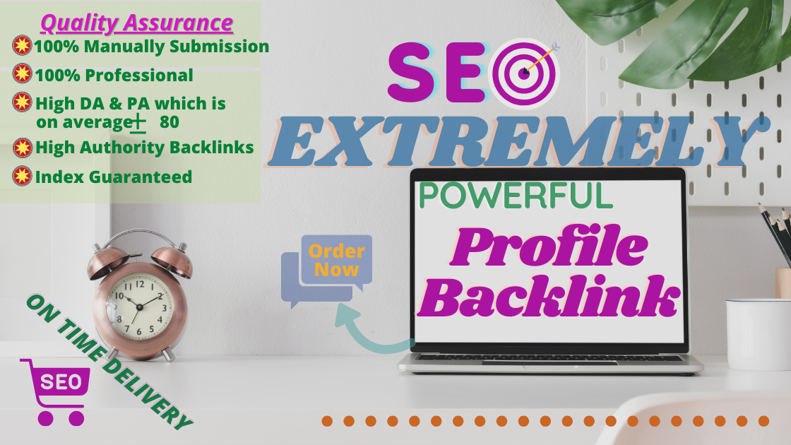 I will provide you 30+ High Quality DA Profile Backlink manually for ranking