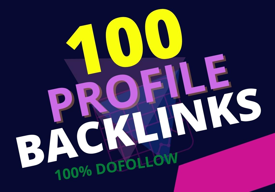 70+DA Pr9 100 do-follow Profile Backlink SEO Link buildings