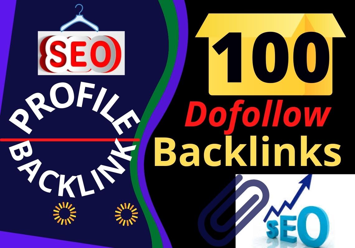Manual 100 Unique HQ Dofollow High Authority Profile Backlinks