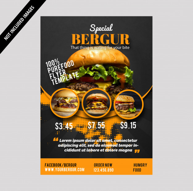 I will design amazing food & restaurant's Flyer