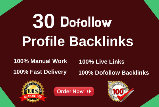 I will do 30 HQ dofollow SEO profile backlinks for link building