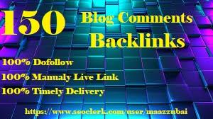 I Will Do 150 Blog Comment Backlinks in 20 Plus DA Sites