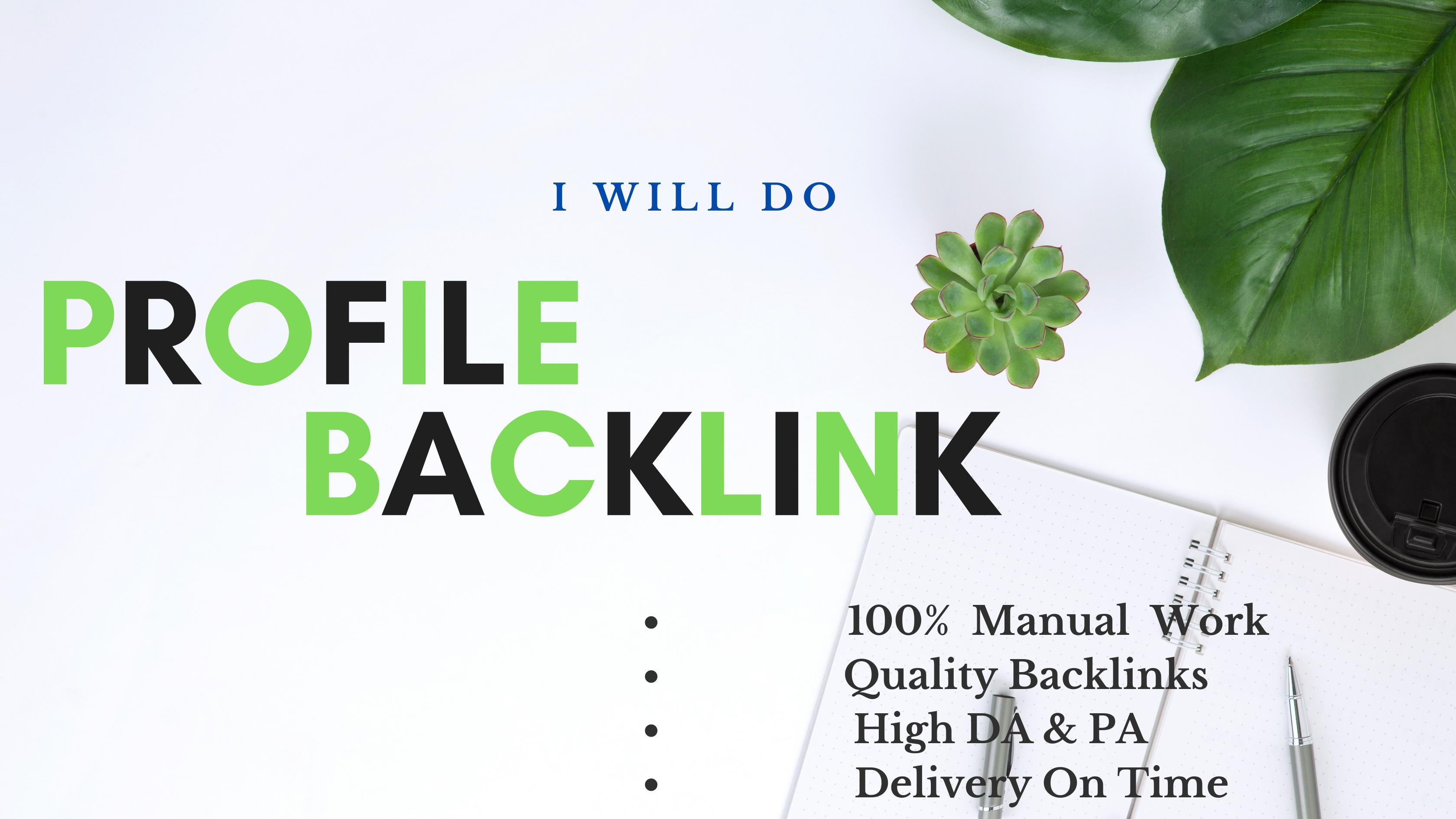 I Will Do 45 High PR Top Profile Backlinks For Website