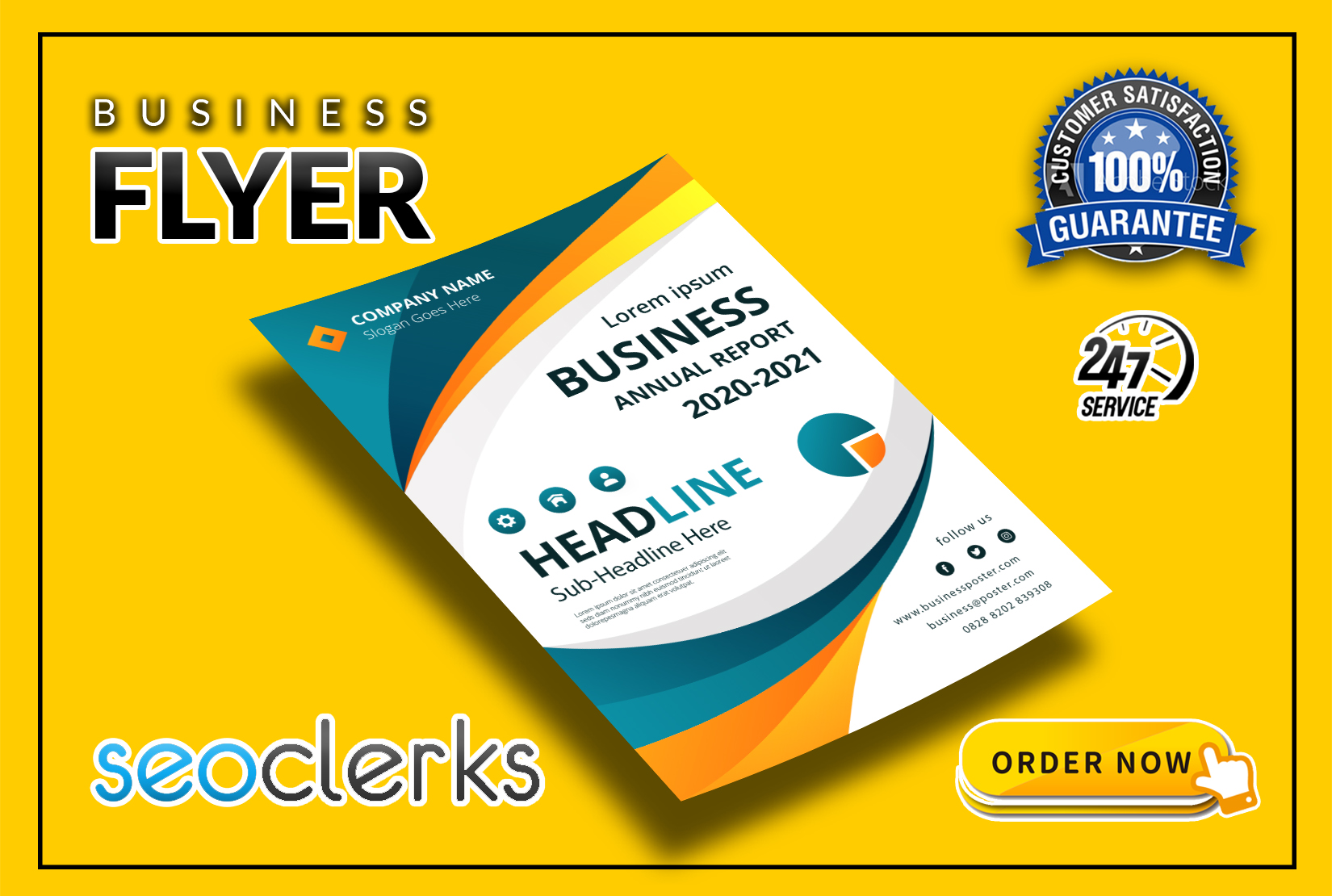 I will design professional flyer,  Poster,  brochure for your business