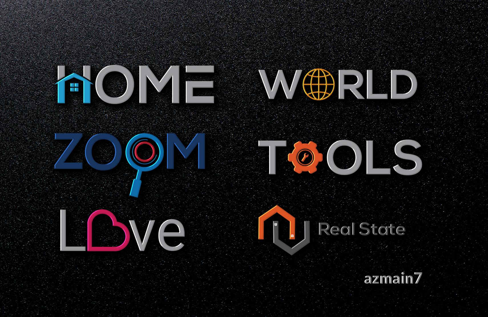 I will design a typographic minimalist unique creative logo