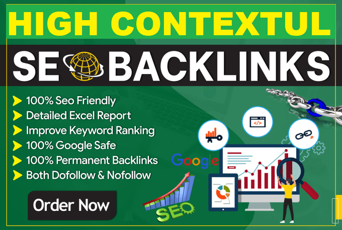 I will build contextual SEO dofollow backlinks for link building