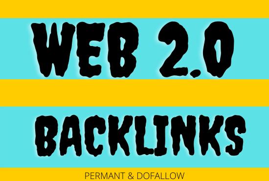 High Authority web2.0 backlinks 50
