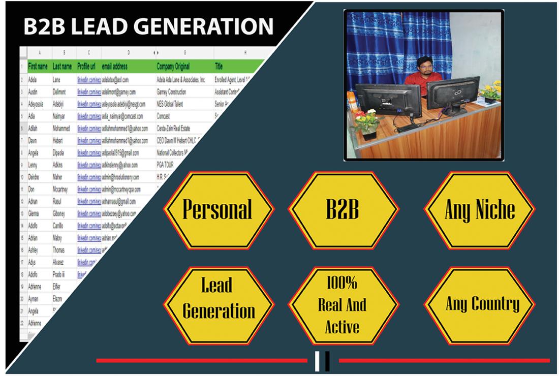I will linkedin 50 targeted b2b lead generation