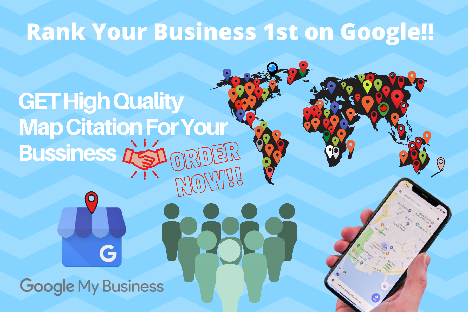 I will create 2000+ google maps citations for GMB and local business ranking