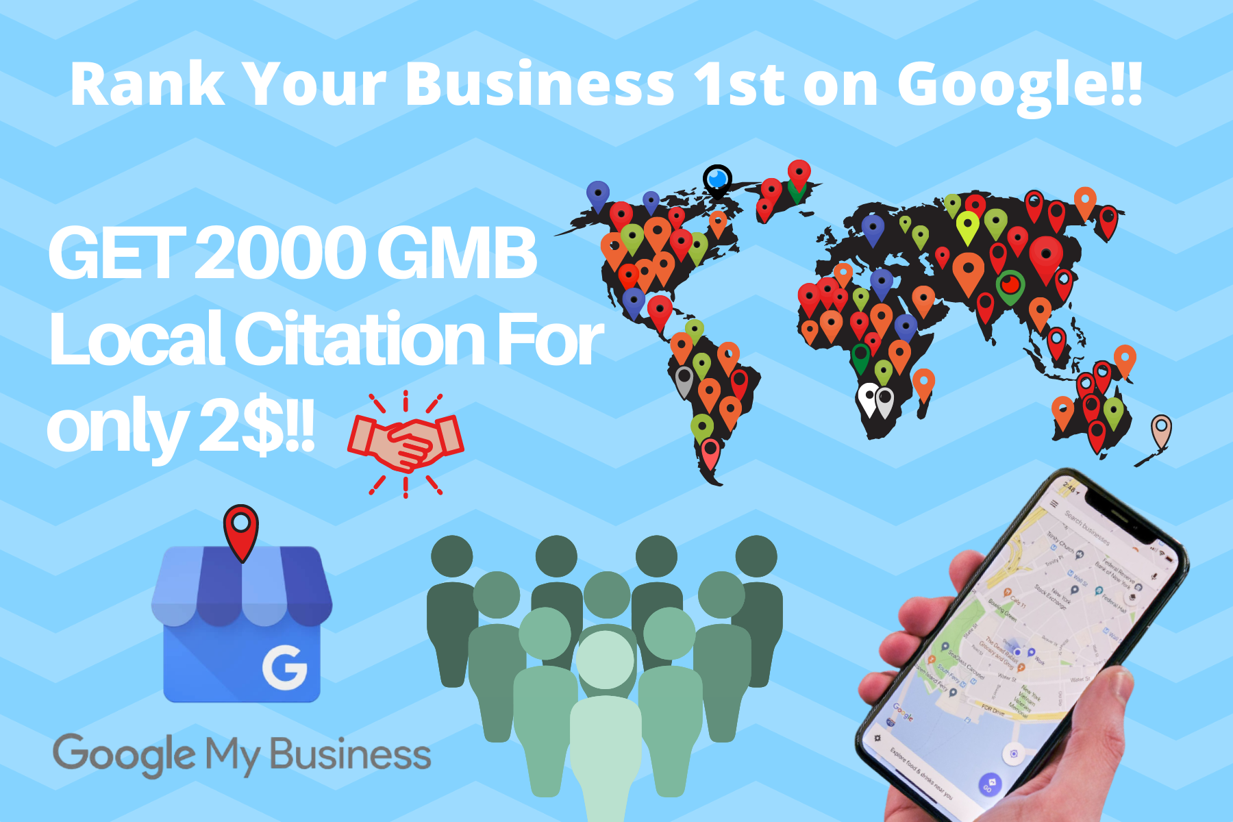 I will create 2000 google maps citations for GMB and local business ranking