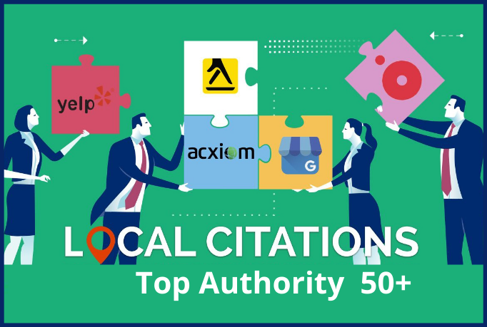 I will create top authority 50 local seo citations