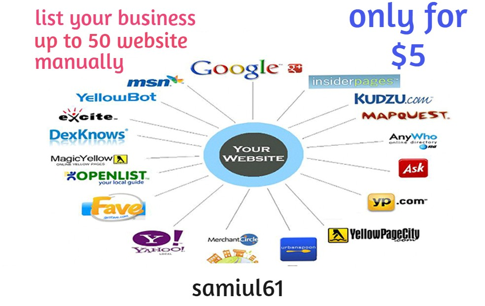 I will create on top 50 websites for local business listing or local citations