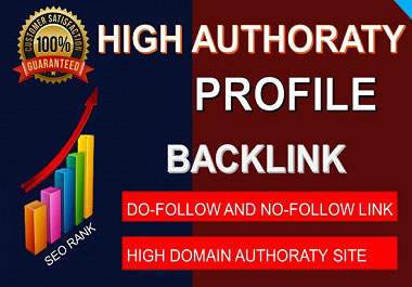 I will do high DA Authority Profile backlinks on authority website