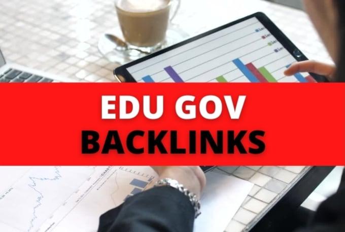 I will create 40 plus edu gov profile backlinks
