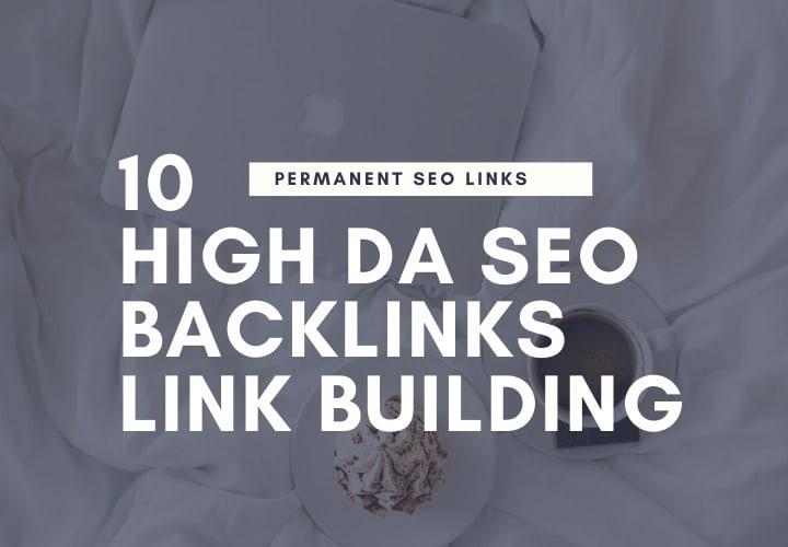 I will do 10 high da90 SEO backlinks manually