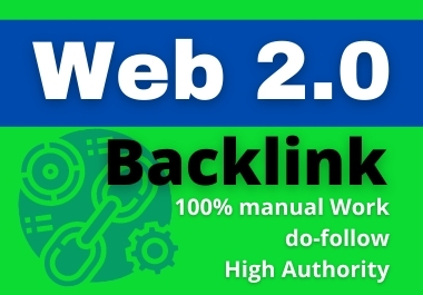 I will create 60+ web2.0 backlinks in high DA PA sites Manually