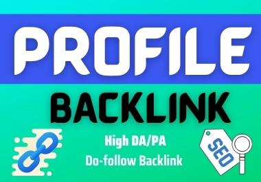 I will create 100+ profile backlinks Manually & Professional