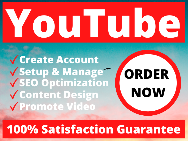 I will create and optimize your YouTube with complete SEO