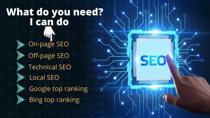 We will do SEO for Google top ranking for your website.