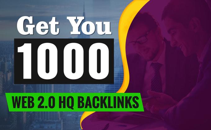 I will build 500 high authority backlinks on DA web 2.0 sites
