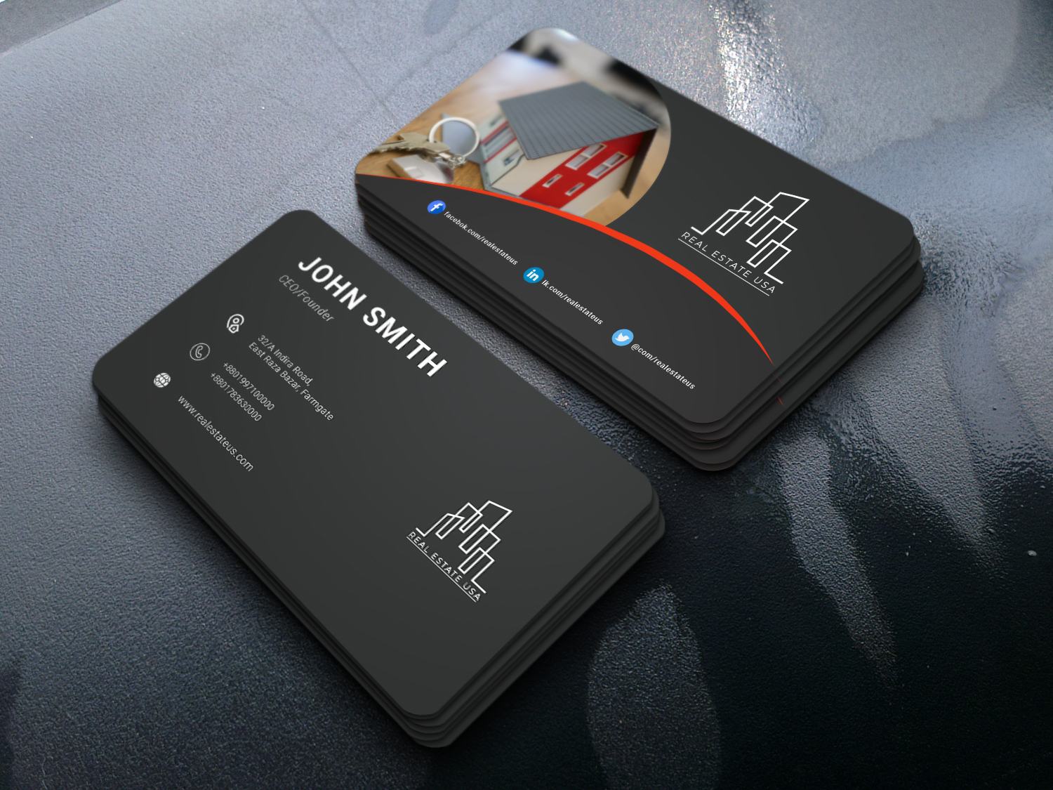 I will design a new visiting card design with printable file